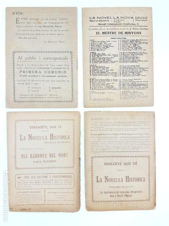 Libros antiguos: LOTE DE 4 NOVELAS ( PUBLICACIÓ CATALANA ) LA NOVEL.LA NOVA ( PUBLICIDAD ) - Foto 6 - 193628598