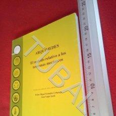 Libros antiguos: TUBAL ARQUIMEDES EL METODO RELATIVO A LOS TEOREMAS MECANICOS U21. Lote 193658447