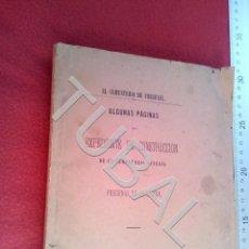 Libros antiguos: TUBAL 1882 EL CEMENTERIO DE FREGENAL DE LA SIERRA EXPEDIENTE DE CONSTRUCCION U21. Lote 193659860