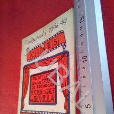 Libros antiguos: TUBAL 1948 SEVILLA LOS CROQUIS DE TODOS LOS TEATROS Y CINES 22 PLANOS ABUNDANTE PUBLICIDAD U21. Lote 193660322