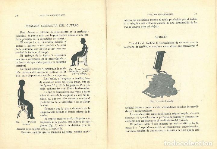 Libros antiguos: CURSO DE MECANOGRAFÍA. (KUHNEL PORTA, Javier). - Foto 4 - 192231065