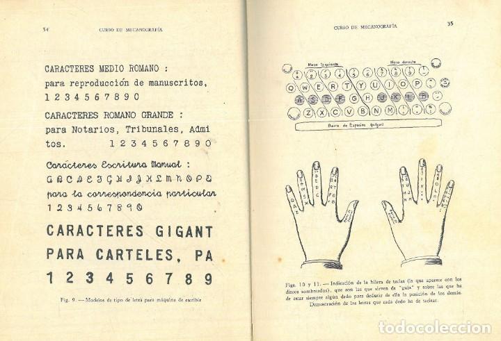 Libros antiguos: CURSO DE MECANOGRAFÍA. (KUHNEL PORTA, Javier). - Foto 6 - 192231065