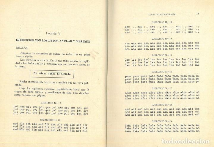 Libros antiguos: CURSO DE MECANOGRAFÍA. (KUHNEL PORTA, Javier). - Foto 8 - 192231065