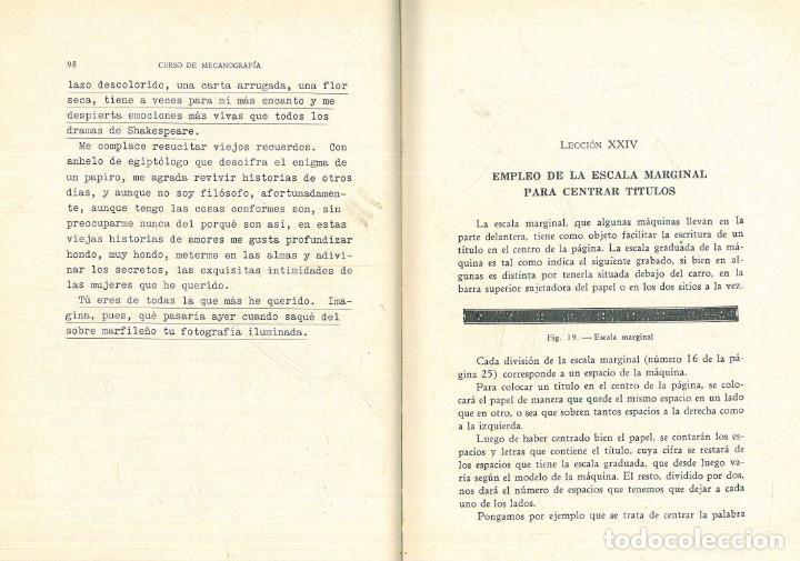 Libros antiguos: CURSO DE MECANOGRAFÍA. (KUHNEL PORTA, Javier). - Foto 11 - 192231065