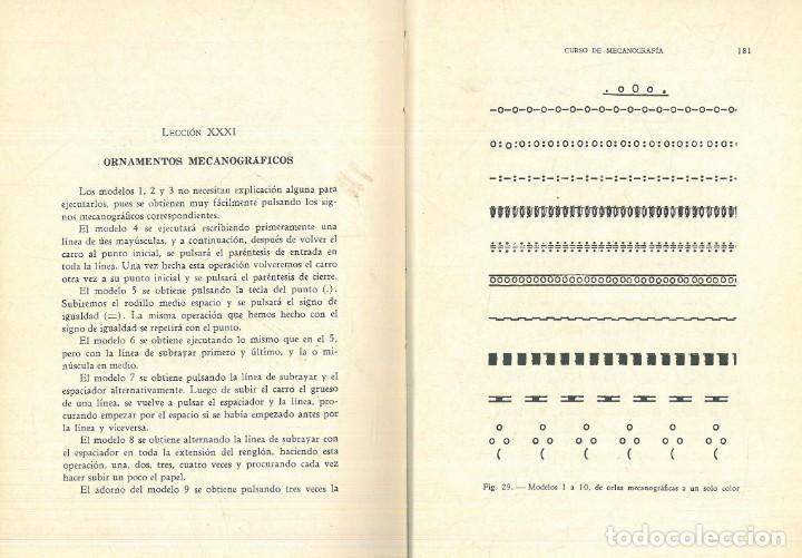 Libros antiguos: CURSO DE MECANOGRAFÍA. (KUHNEL PORTA, Javier). - Foto 12 - 192231065