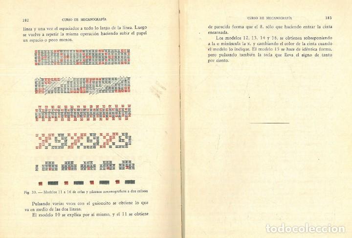 Libros antiguos: CURSO DE MECANOGRAFÍA. (KUHNEL PORTA, Javier). - Foto 13 - 192231065
