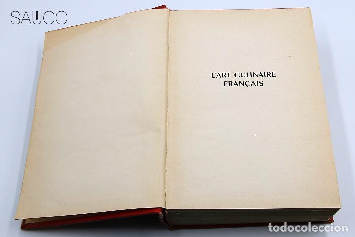 Libros antiguos: LIBRO DE COCINA LART CULINAIRE FRACAIS - Foto 6 - 193791492