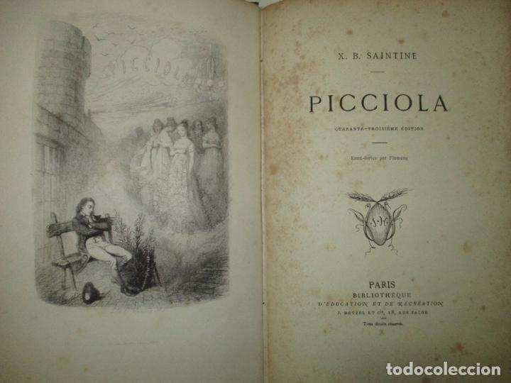 PICCIOLA. SAINTINE, X.B. C.1890. (Libros antiguos (hasta 1936), raros y curiosos - Literatura - Narrativa - Otros)