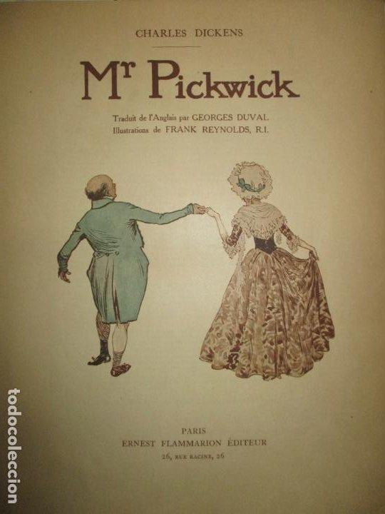 Libros antiguos: MR. PICKWICK. DICKENS, Charles. c.1920. - Foto 3 - 193801352