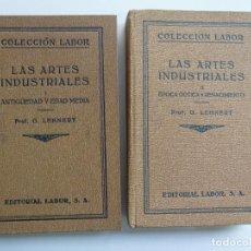 Livros antigos: HISTORIA DE LAS ARTES INDUSTRIALES. TOMOS I-II. LEHNERT. LABOR. 1925/33. Lote 193802091