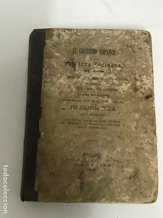 QUILLERMO MOYANO EL COCINERO ESPAÑOL Y LA PERFECTA COCINERA, MÁLAGA, 1867 PRIMERA EDICIÓN (Libros Antiguos, Raros y Curiosos - Cocina y Gastronomía)