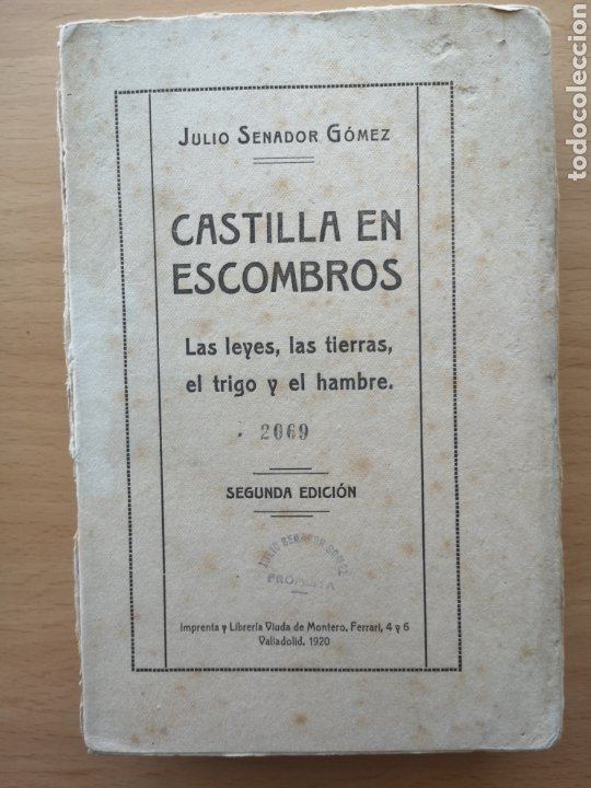 CASTILLA EN ESCOMBROS. LAS LEYES, LAS TIERRAS, EL TRIGO Y EL HAMBRE. JULIO SENADOR GÓMEZ. 1920. (Libros antiguos (hasta 1936), raros y curiosos - Literatura - Narrativa - Otros)