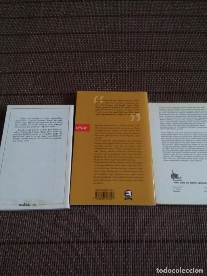 Libros antiguos: Lote 3 libros euskera..Sprako tranbia....azkonarren laguna hamabostegun urgainen - Foto 3 - 194061228