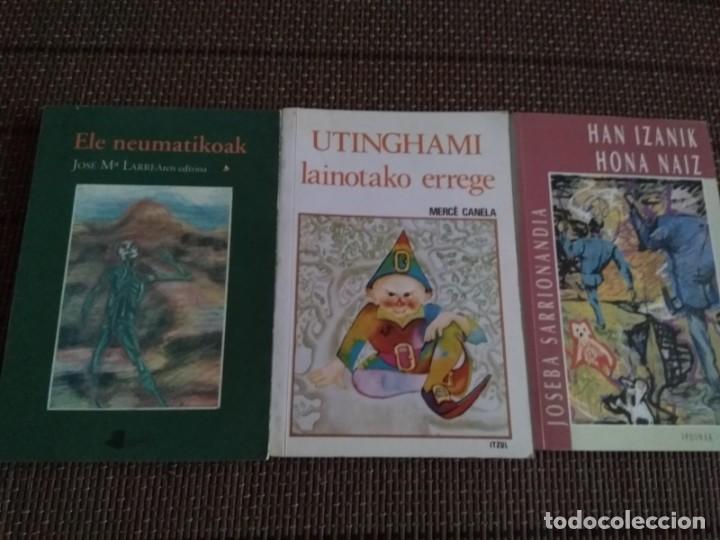 LOTE 3 LIBROS EUSKERA HAN IZANIK HONA NAIZ....ELE NEUMATIKOAK ....UTHINGAMI LAINOTAKO ERREGE.... (Libros Antiguos, Raros y Curiosos - Ciencias, Manuales y Oficios - Otros)
