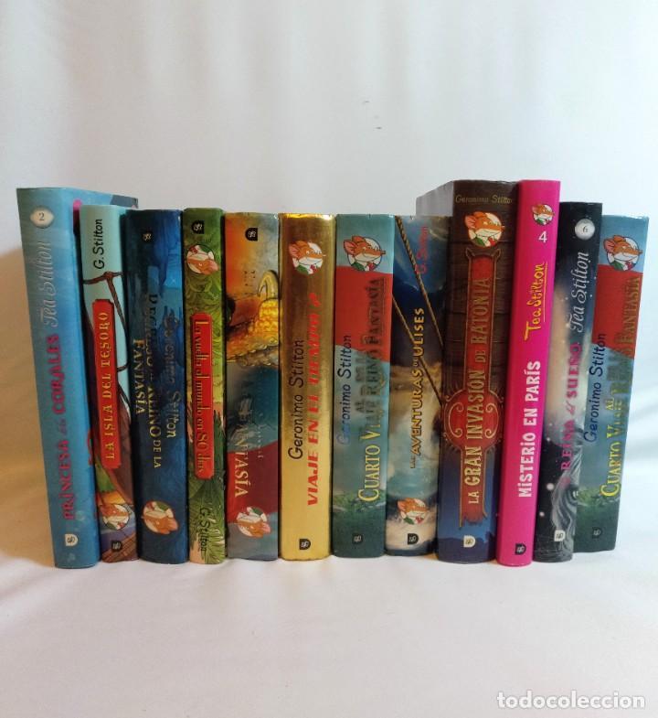 12 LIBROS DE GERONIMO STILTON Y TEA STILTON,TODOS DE TAPA DURA Y LA MAYORIA GORDOS (Libros Antiguos, Raros y Curiosos - Literatura Infantil y Juvenil - Otros)