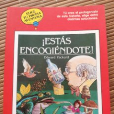 Livres anciens: ELIGE TU PROPIA AVENTURA Nº 4 GLOBO AZUL - ESTÁS ENCOGIENDOTE - TIMUN MAS. Lote 194083647