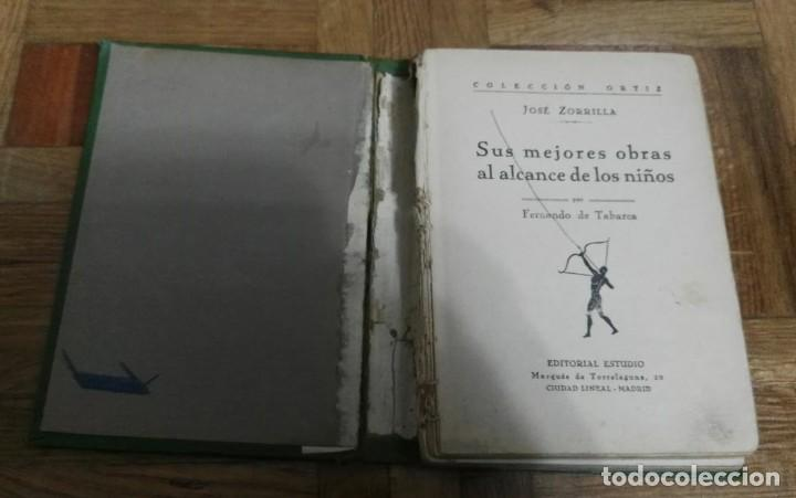 Libros antiguos: Zorrilla sus Mejores Obras al Alcance de los Niños por Fernando Tabarca Colección Ortiz Edit.Estudio - Foto 4 - 194085312