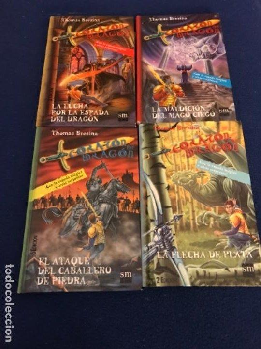 LOTE CORAZÓN DE DRAGÓN NºS 1 2 3 8 FLECHA DE PLATA CABALLERO PIEDRA MAGO CIEGO ETC THOMAS BREZINA SM (Libros Antiguos, Raros y Curiosos - Literatura Infantil y Juvenil - Otros)