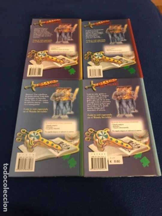 Libros antiguos: LOTE Corazón de dragón nºS 1 2 3 8 FLECHA DE PLATA CABALLERO PIEDRA MAGO CIEGO ETC Thomas Brezina SM - Foto 6 - 194113142