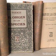 Libros antiguos: DARWIN : EL ORIGEN DE LAS ESPECIES. (1º Y 2º TOM. ED PROMETEO). Lote 194128678
