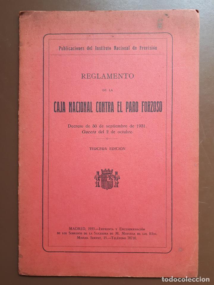 CAJA NACIONAL CONTRA EL PARO FORZOSO - DECRETO 1931 (Libros Antiguos, Raros y Curiosos - Ciencias, Manuales y Oficios - Otros)