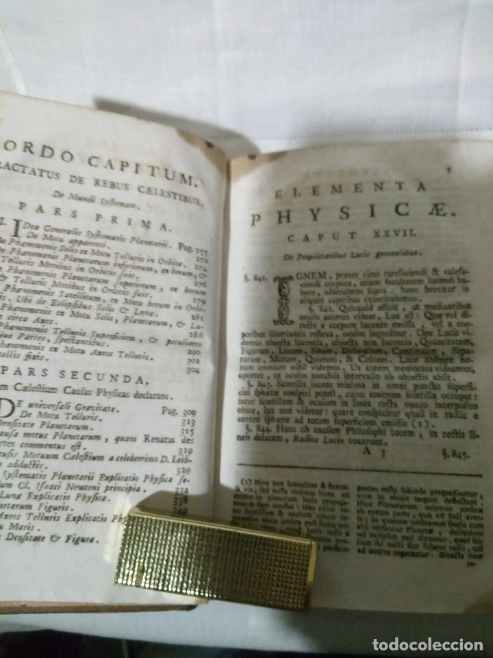 Libros antiguos: ~~~~ ELEMENTA PHYSICAE, PETRO MUSSCHENBROEK - 1800, 2º TOMO, GRABADOS DESPLEGABLES. ~~~~ - Foto 5 - 194203837