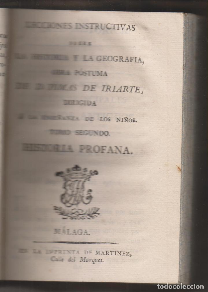 Libros antiguos: TOMÁS DE IRIARTE: LECCIONES INSTRUCIVAS SOBRE LA HISTORIA Y LA GEOGRAFÍA. 3 TOMOS. PUERTO DE LA CRUZ - Foto 2 - 194216051