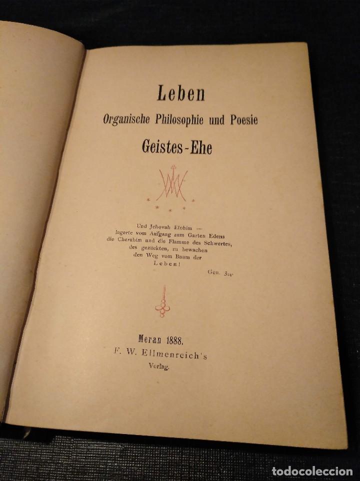 Libros antiguos: Libro raro (1888): Leben; organische Philosophie und Poesie, Geistes-ehe - Josua Klein (1867-1945) - Foto 6 - 194221216