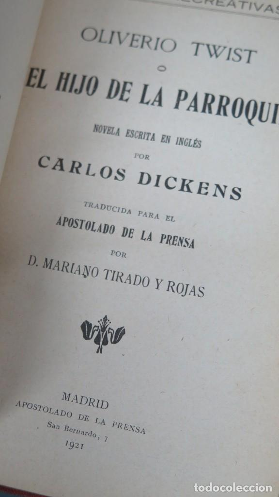 Libros antiguos: 1921.- EL HIJO DE LA PARROQUIA. DICKENS - Foto 2 - 194225500