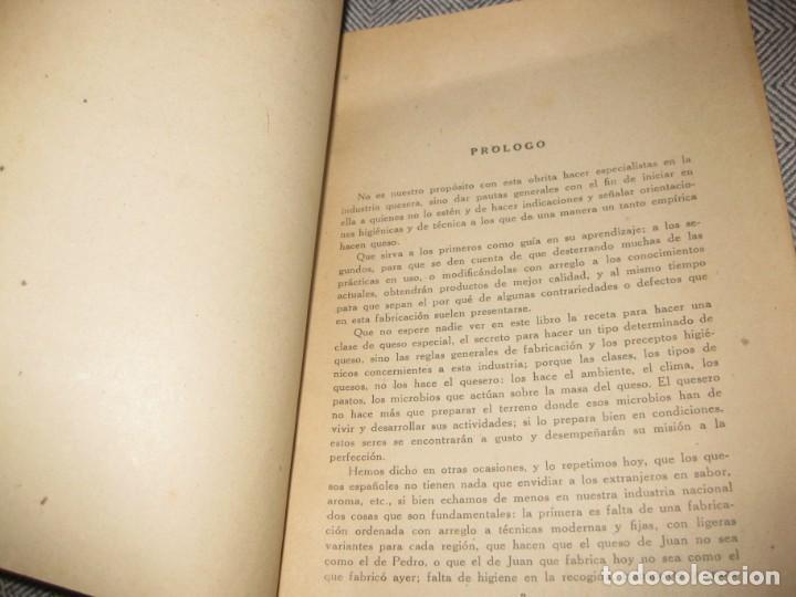 Libros antiguos: antiguo librito fabricacion de quesos . ministerio agricultura. fulgencio portero - Foto 2 - 194236483