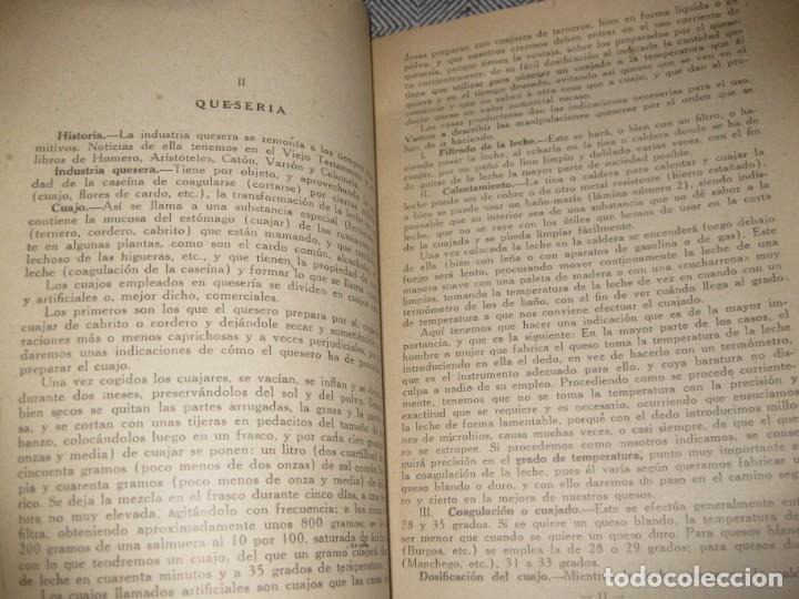 Libros antiguos: antiguo librito fabricacion de quesos . ministerio agricultura. fulgencio portero - Foto 3 - 194236483