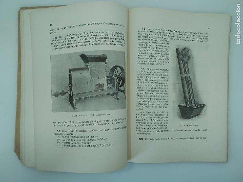 Libros antiguos: RAVENTÓS, Jaume / LArt de fer bon vi - Ed. Escola Superior dAgricultura. Barcelona, 1922 - Foto 2 - 194273276