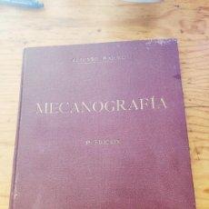 Libros antiguos: MECANOGRAFIA, METODO PRACTICO. ALFONSO MIQUEL. 5º EDICION. 1936.. Lote 194281950