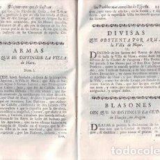 Libros antiguos: MOYA, ANTONIO DE: RASGO HEROYCO: DECLARACIÓN DE LAS EMPRESSAS, ARMAS Y BLASONES... DE ESPAÑA. 1756. Lote 194318330