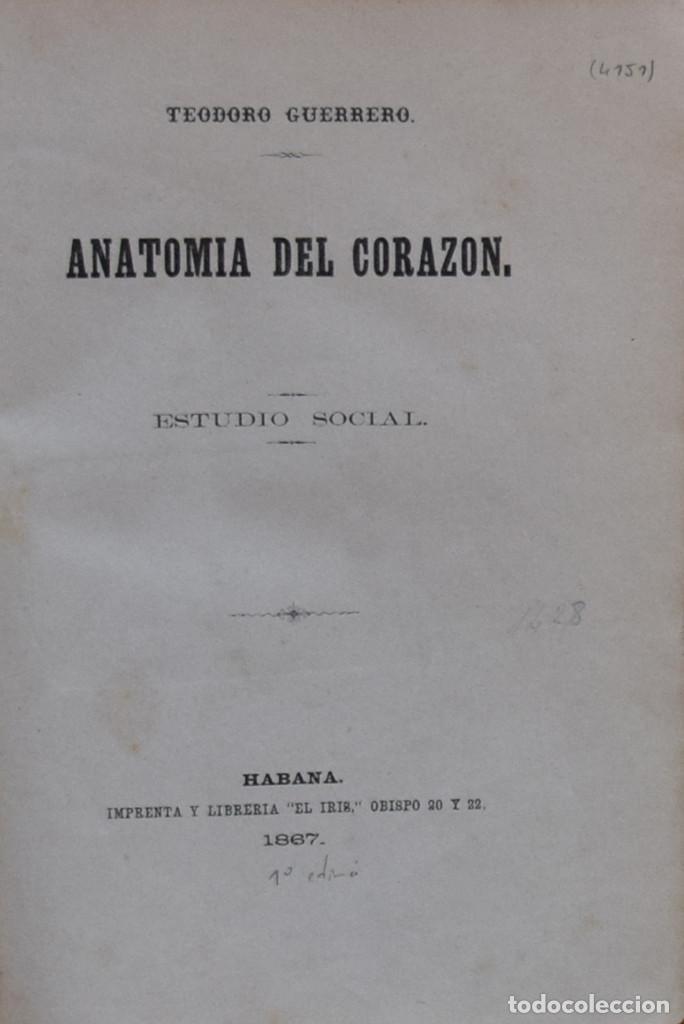 ANATOMÍA DEL CORAZÓN. ESTUDIO SOCIAL - TEODORO GUERRERO (Libros Antiguos, Raros y Curiosos - Literatura - Otros)