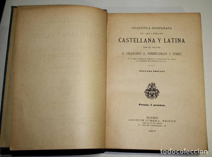 Libros antiguos: Gramática comparada de las lenguas castellana y latina. - Foto 2 - 194322340