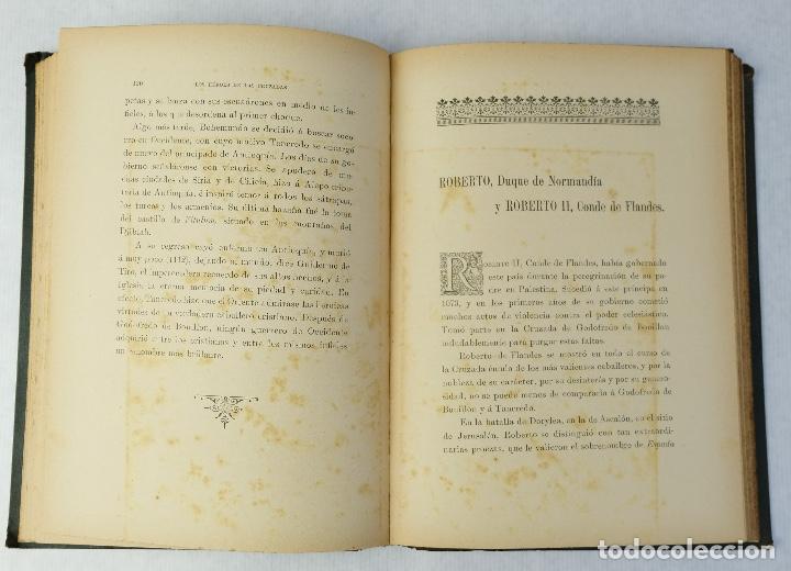 Libros antiguos: Los héroes de las cruzadas - Pedro Umbert - Imprenta de Henrich y Comp. en Comandita - Foto 12 - 194322962
