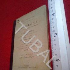 Libros antiguos: TUBAL 1887 SEGUROS LA EQUITATIVA REGLAS E INSTRUCCIONES PARA LOS AGENTES U18. Lote 194333637