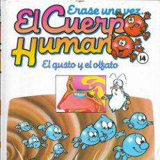 Libros antiguos: == A31 - LIBRO EDUCATIVO INFANTIL - ERASE UNA VEZ EL CUERPO HUMANO - EL GUSTO Y EL OLFATO . VOL.14. Lote 194371435