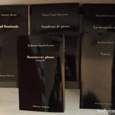 Libros antiguos: ROMANCERO GITANO, DE FEDERICO GARCÍA LORCA Y OTROS 4 LIBROS DE LA MEJOR POESÍA ESPAÑOLA. Lote 194383273