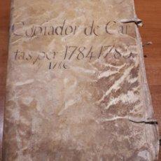 Libros antiguos: MANRESA S. XVIII. IMPORTANTE DOCUMENTO COMERCIO SEDA. COPIADOR CARTAS 1784, 1785, 1786.. Lote 194389772