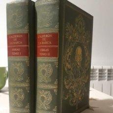Libros antiguos: LIBROS OBRAS DE CALDERON DE LA BARCA 2 VOLUMENES. Lote 194392642