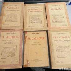 Libros antiguos: SAMUEL SMILES / LOTE CON 6 LIBROS: VIDA Y TRABAJO. EL AHORRO, AYÚDATE,... / RAMÓN SOPENA ED.. Lote 194394210