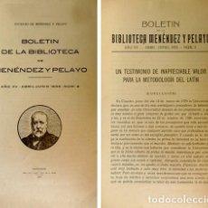 Libros antiguos: ARAQUISTAIN, LUIS. MARCELINO MENÉNDEZ PELAYO Y LA CULTURA ALEMANA. 1933.. Lote 194398563