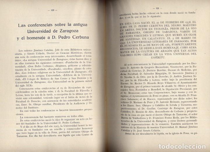 Libros antiguos: Anales de la Universidad de Zaragoza. Memoria de los Cursos 1918 , 1919, 1920, 1921, y 1923. 1924. - Foto 3 - 194400963