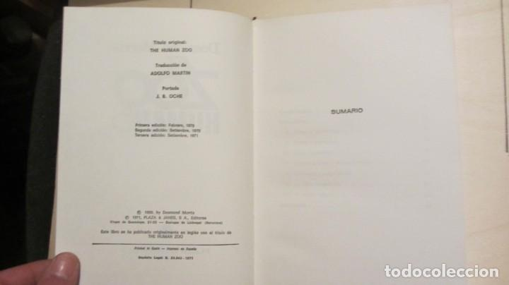 Libros antiguos: EL ZOO HUMANO - Morris, Desmond 1970 3ª EDICIÓN - Foto 4 - 194491561