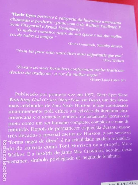Libros antiguos: libro-o seu olhar posto em deus-zora neale hurston-1993-excelente estado-ver fotos - Foto 21 - 194398276