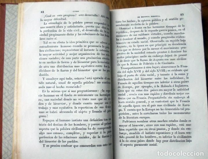 Libros antiguos: GUIZOT : HISTORIA GENERAL DE LA CIVILIZACIÓN EN EUROPA (OLIVERES Y GAVARRÓ, 1839) - Foto 4 - 194501036