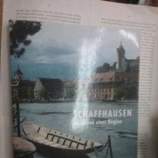 Libros antiguos: SCHAFFHAUSEN ANSICHTEN EINER REGION . Lote 194524361