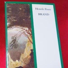 Libros antiguos: LIBRO-BRAND-HENRIK IBSEN-1996-ENCUENTRO EDICIONES-VER FOTOS. Lote 194526395